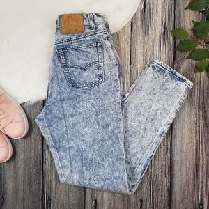 Levi's Vintage Button Fly Acid Wash Mom Jeans